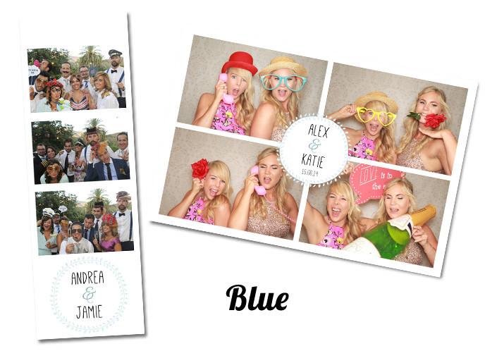 Wedding photobooth Template Blue