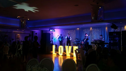 Light up letters hire for weddings Belfast