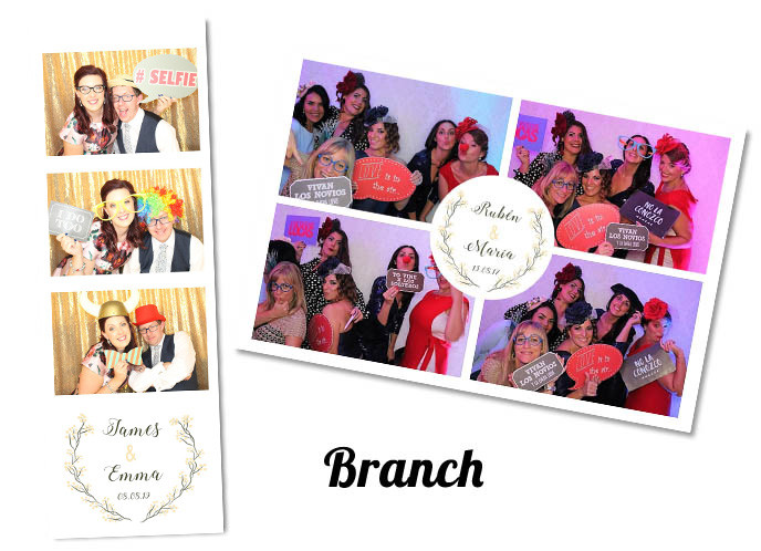 Wedding photobooth Template Branch