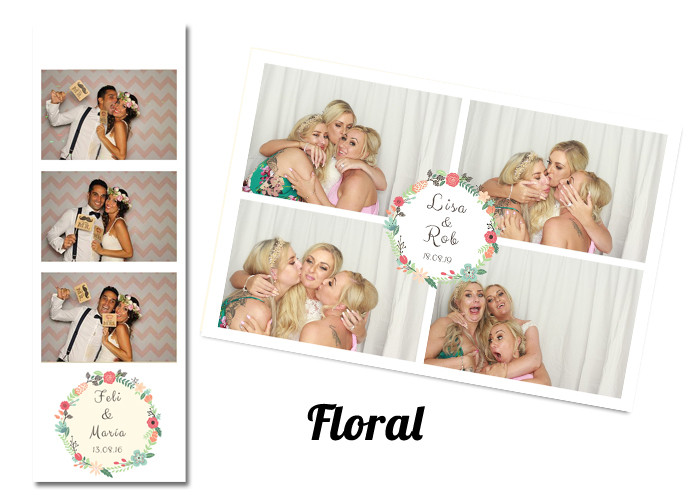 Wedding photobooth Template Floral