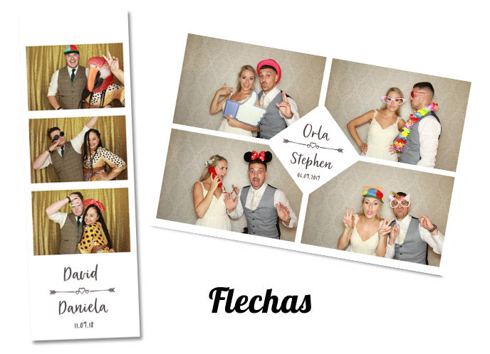 Wedding photobooth Template Flechas