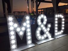 Lightup Initials for weddings