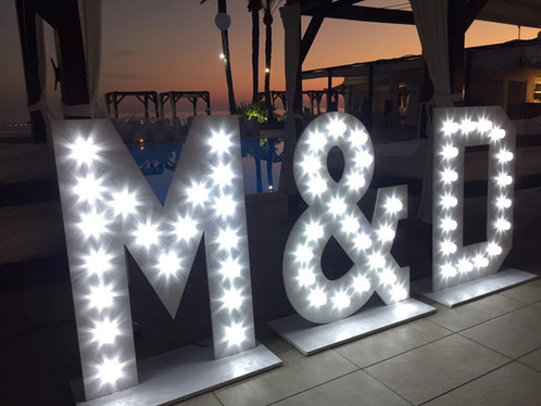 Lightup Initials for weddings