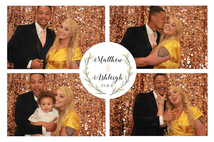 Champagne Sequin photobooth backdrop