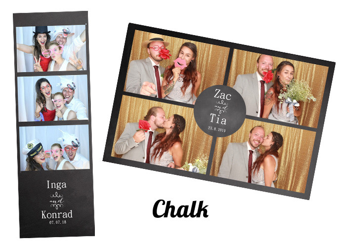 Wedding photobooth Template Chalk