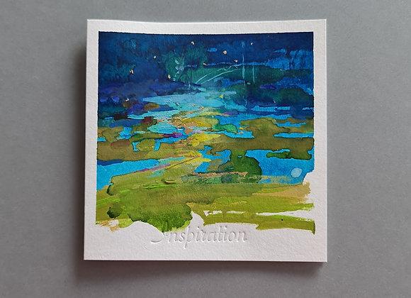 """Открытки-картины  """"Inspiration"""" в конвертике, 13x13см в сложенном виде."""