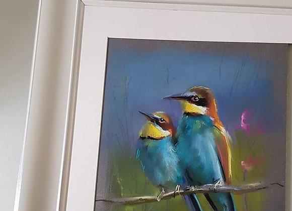 """""""Птички"""", пастель, бумага. 42х29,7см"""