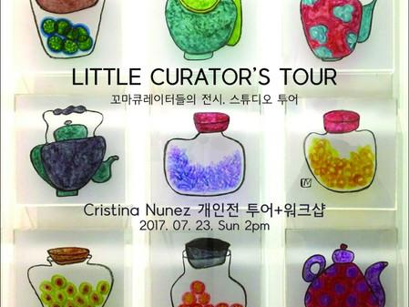 ATLOKIDS. LITTLE CURATOR's TOUR. Cristina Nunez Solo Exhibition. Gallery Banditrazos, 24 Jun 201