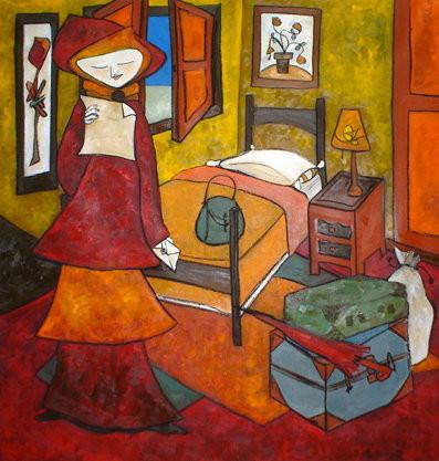Habitación con ventana. Oil on Canvas, 150 x 145 cm,