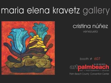 Cristina Núñez representing Venezuela @ Art Palm Beach