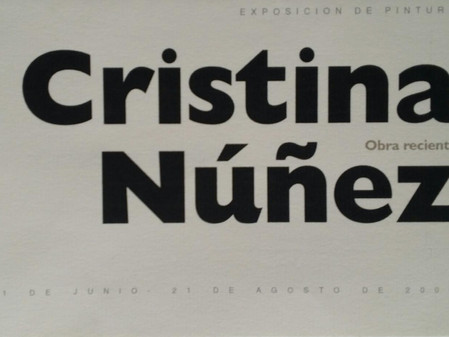 Cristina Núñez Obra reciente. La Creperie 21 de junio/21 de agosto, 2000.