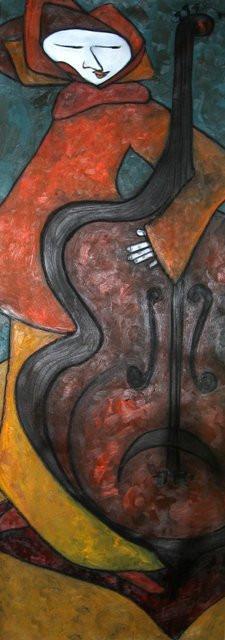 Cornelio, Oil on Canvas, 150 x 55 cm.
