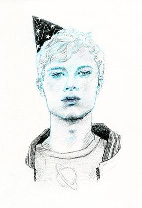 Original Sketch - Space Boy