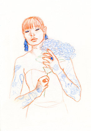 Original Sketch - Tattooed Bride