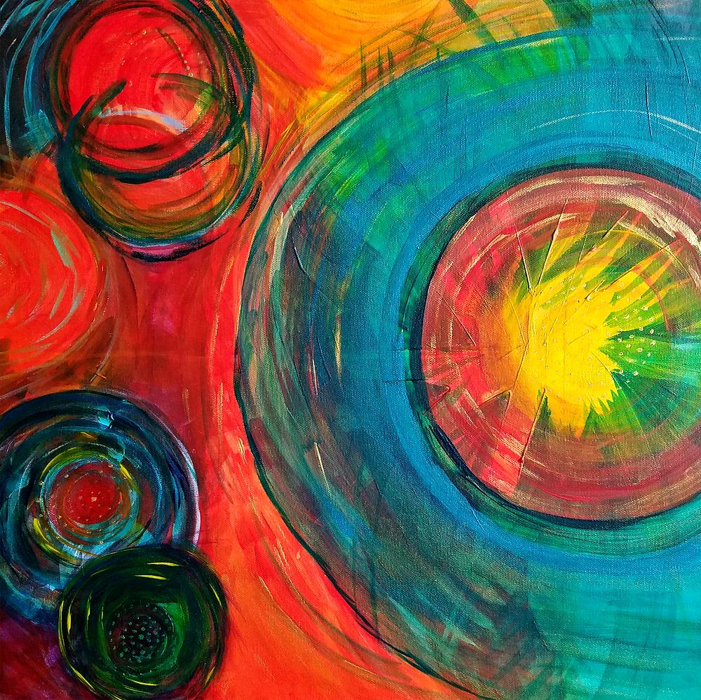 Image credit: original painting by Toni Acevedo of Barefoot Bliss Yoga