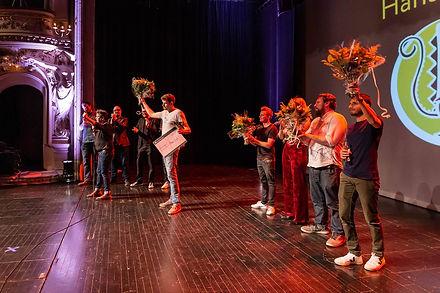Hans Cools wint The Lunatic Comedy Award 2019. Foto door Leen Lancksweerdt.
