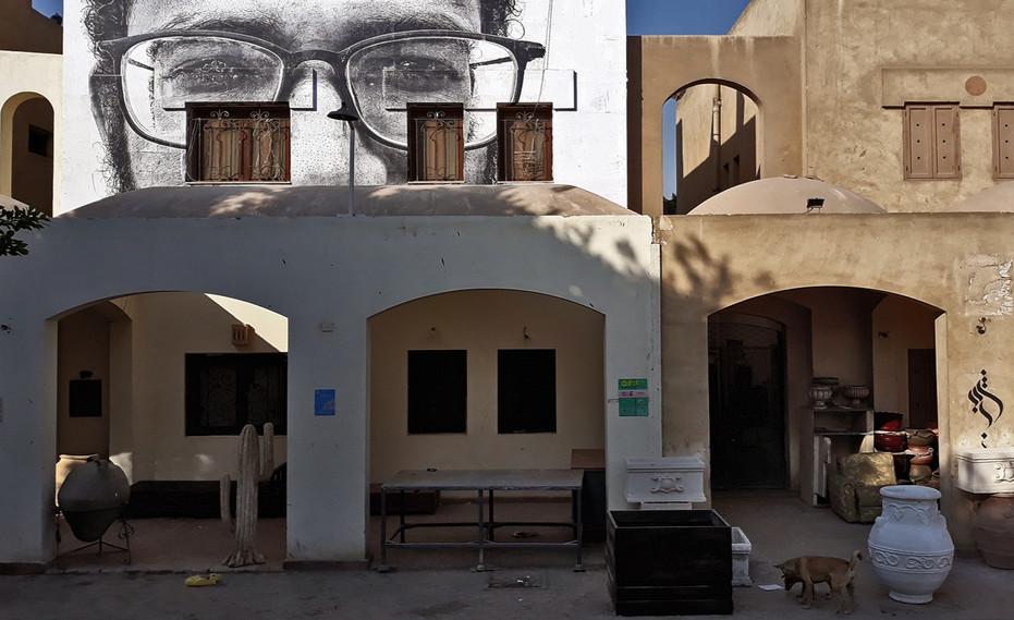 Retrato de Mohamed Nageh, Bienal de Arte do Cairo (2018) - lambe-lambe
