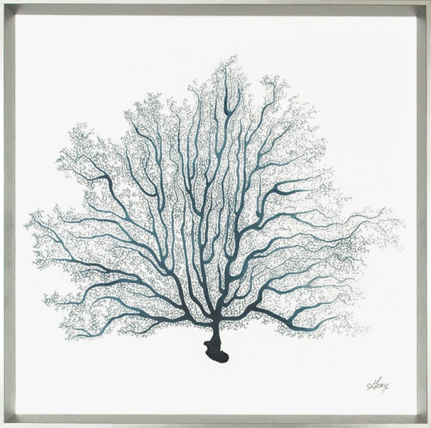 Tranquil Seafan II Description: Framed Canvas Category: Canvas  Price: $180 Dimension: 32 X 32