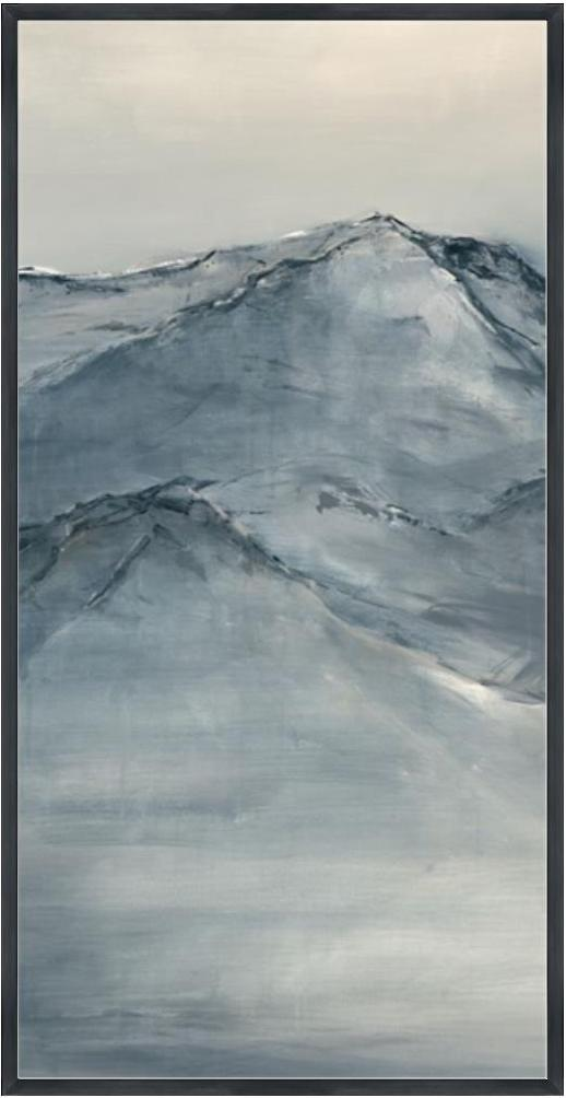 Uphill Chime II - Description: Framed Canvas Size: 24 x 48