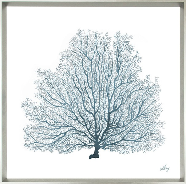 Tranquil Seafan I Description: Framed Canvas Category: Canvas  Price: $180 Dimension: 32 X 32