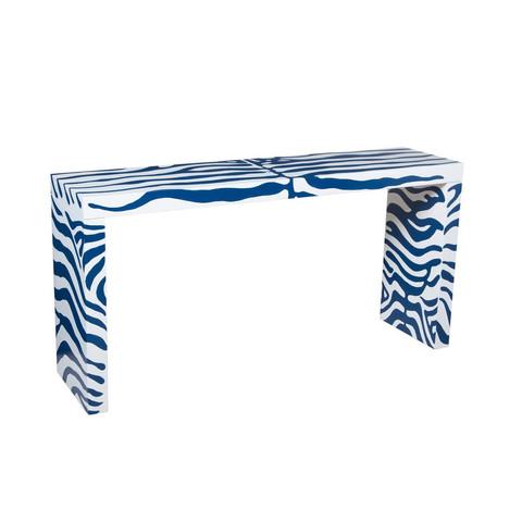 "Zebra Console Table - 30""H x 60""W x 16""D Price $570"
