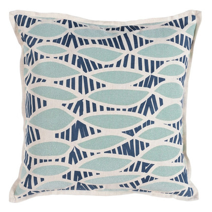 Tidal Marine Pillow with down insert, $58