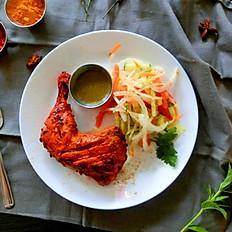 1 cuisse de poulet/1 chicken leg