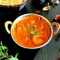 Crevettes au cari/Shrimp curry