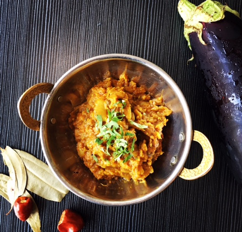 Egg plant curry