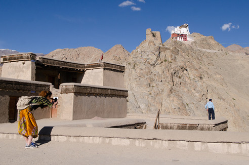 Photographing a photographer at the Monastary in Leh, India