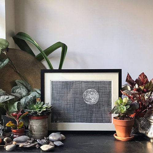 Moon Illustration Print