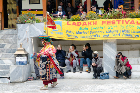 Capturing the traditional dance as part of Leh's Cultural festival, India