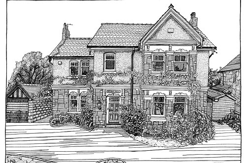 £100 House Illustration Commission