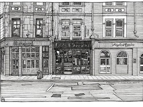 Falafel & Shawarma Shop Illustration