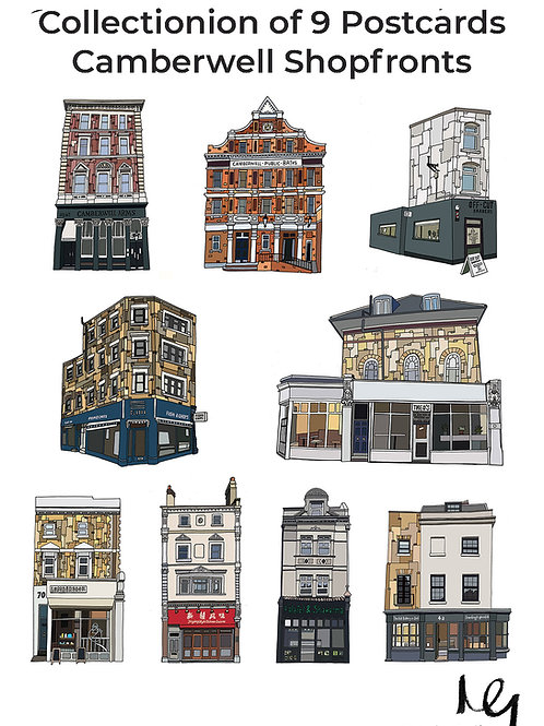 Camberwell Shopfront Postcards (Set of 9)