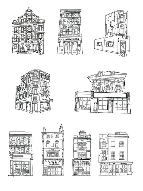 Camberwell Shopfronts in Black and White