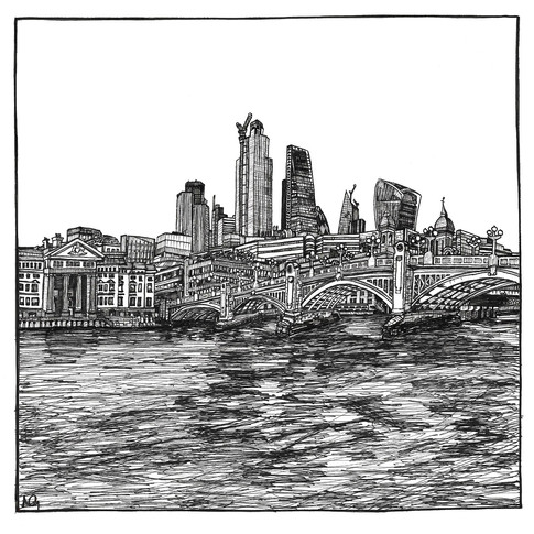 Southwark Bridge, Southbank