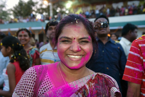 Portrait at Holi festival, Jaipur