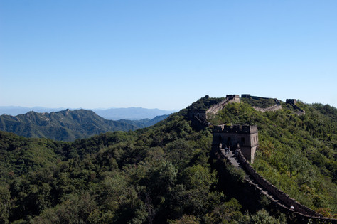 The Great Wall of China is one if Chinas most visited tourist attractions and here you can see some of those who come to walk it - regarless of how remote it is