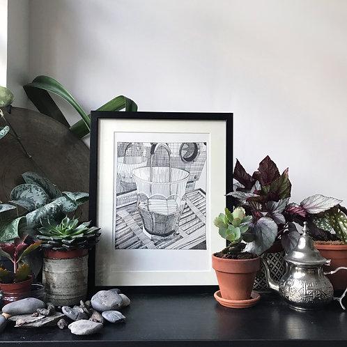 Coffee Illustration Print