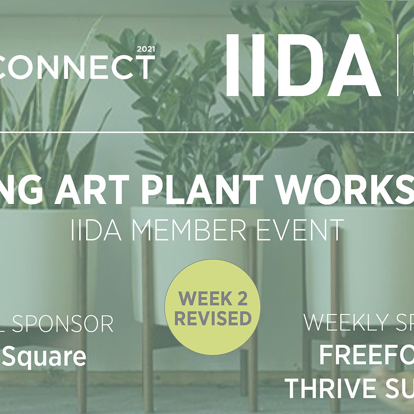 ReCONNECT   WEEK 2   LIVING ART PLANT WORKSHOP / THURSDAY OCTOBER 14, Noon or 5 pm. FERN PLANT SHOP.