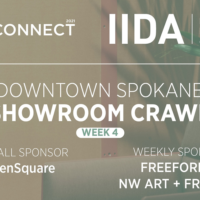 ReCONNECT   WEEK 4   DOWNTOWN SPOKANE SHOWROOM CRAWL.  THURSDAY OCTOBER 28, NOON TO 5 PM