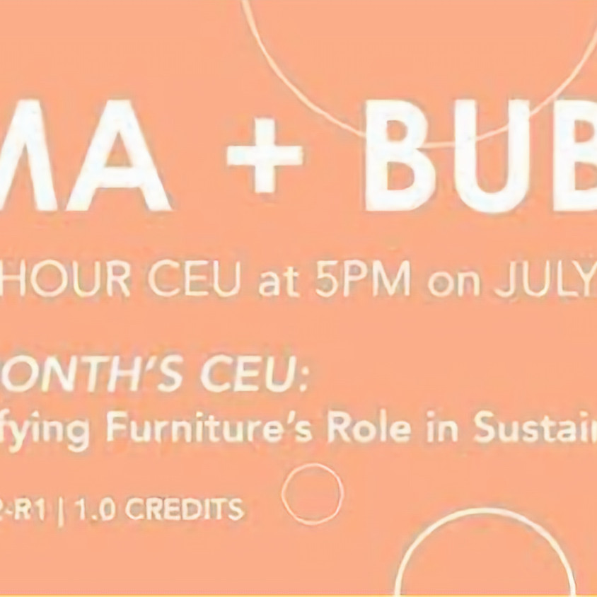 Industry Virtual CEU / BIFMA + Bubbles