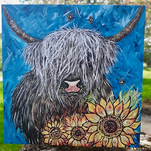 Sonny the Highland Cow Greeting Card