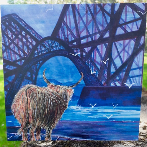 Hamish visits Queensferry Greeting Card
