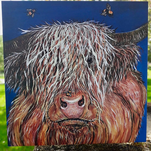 Hudson the Highland Cow Greeting Card