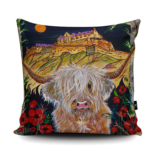 Hamish visits Edinburgh Castle Cushion