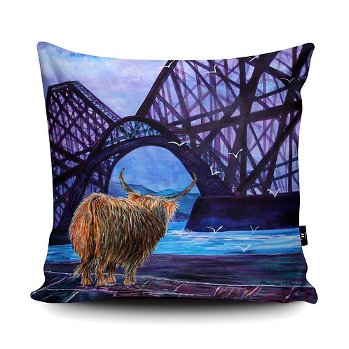 Hamish Visits Queensferry Cushion