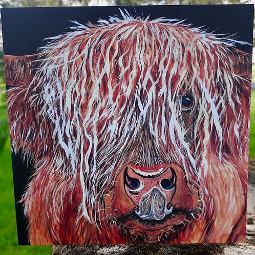 Fiona the Highland Cow Greeting Card