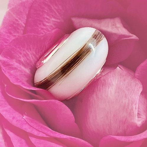 Perle lactée méchée compatible Pandora - Bijou au lait maternel
